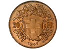 Swiss and French 20 Francs